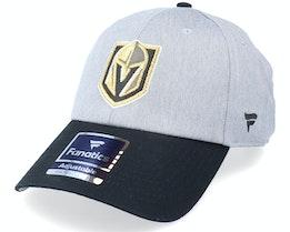 Vegas Golden Knights Grey Marl Unstructured Sports Grey/Black Dad Cap - Fanatics