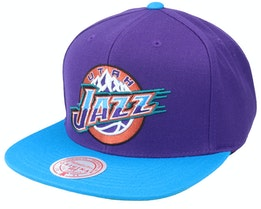 Utah Jazz Wool 2 Tone Hwc Purple/Teal Snapback - Mitchell & Ness
