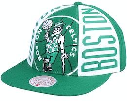 Boston Celtics Big Face Callout Hwc Kelly Green Snapback - Mitchell & Ness