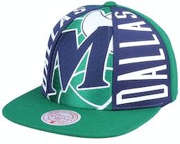 Dallas Mavericks Big Face Callout Hwc Green Snapback - Mitchell & Ness