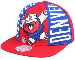 Denver Nuggets Big Face Callout Hwc Red Snapback - Mitchell & Ness