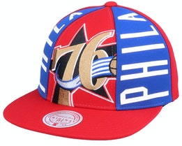 Philadelphia 76ers Big Face Callout Hwc Red Snapback - Mitchell & Ness