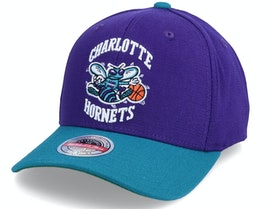 Charlotte Hornets Wool 2 Tone Stretch Hwc Teal/Purple Adjustable - Mitchell & Ness