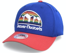 Denver Nuggets Wool 2 Tone Stretch Hwc Royal/Red Adjustable - Mitchell & Ness