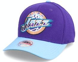 Utah Jazz Wool 2 Tone Stretch Hwc Purple/Teal Adjustable - Mitchell & Ness