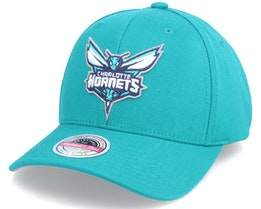 Charlotte Hornets Team Ground Stretch Teal Adjustable - Mitchell & Ness