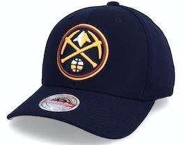 Denver Nuggets Team Ground Stretch Navy Adjustable - Mitchell & Ness