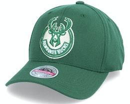Milwaukee Bucks Team Ground Stretch Green Adjustabe - Mitchell & Ness