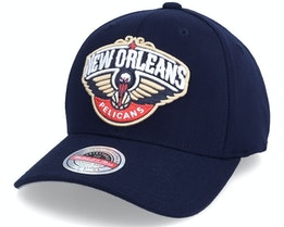 New Orleans Pelicans Team Ground Stretch Navy Adjustable - Mitchell & Ness
