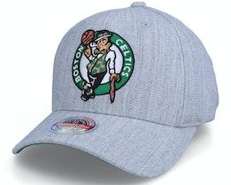 Boston Celtics Team Heather Stretch Heather Grey Adjustable - Mitchell & Ness