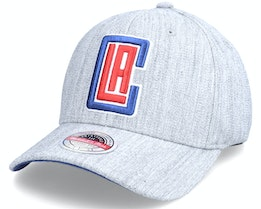 Los Angeles Clippers Team Heather Stretch Grey Heather Grey Adjustable - Mitchell & Ness