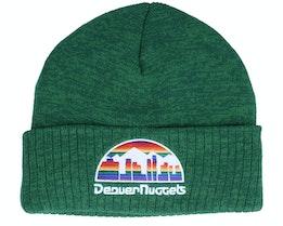 Denver Nuggets Fandom Knit Beanie Hwc Kelly Green Cuff - Mitchell & Ness