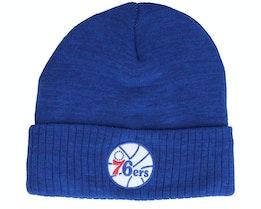 Philadelphia 76ers Fandom Knit Beanie Hwc Royal Cuff - Mitchell & Ness
