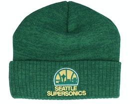 Seattle Supersonics Fandom Knit Beanie Hwc Kelly Green Cuff - Mitchell & Ness