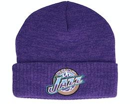 Utah Jazz Fandom Knit Beanie Hwc Purple Cuff - Mitchell & Ness
