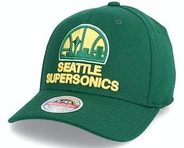 Seattle Supersonics Team Ground Stretch Fitted Hwc Green Flexfit - Mitchell & Ness