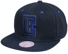 Los Angeles Clippers Contrast Stitch Black Snapback - Mitchell & Ness