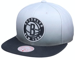 Brooklyn Nets Color Fade Grey/Black Snapback - Mitchell & Ness