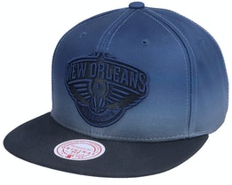 New Orleans Pelicans Color Fade Black Snapback - Mitchell & Ness