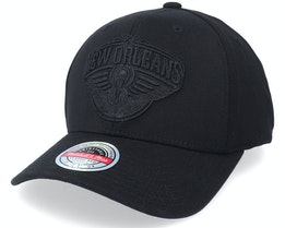 New Orleans Pelicans Blacklight Black Adjustable - Mitchell & Ness