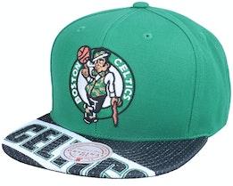 Boston Celtics Slash Century Green/Black Snapback - Mitchell & Ness