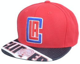 Los Angeles Clippers Slash Century Red/Black Snapback - Mitchell & Ness