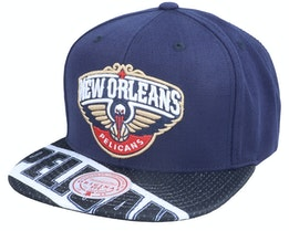 New Orleans Pelicans Slash Century Navy Snapback - Mitchell & Ness