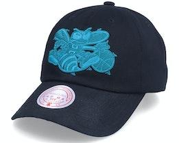 Charlotte Hornets Duotone Hwc Black Dad Cap - Mitchell & Ness