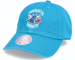 Charlotte Hornets Team Ground Hat Hwc Teal Dad Cap - Mitchell & Ness