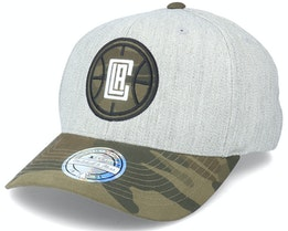LA Clippers Heather Grey/Camo 110 Adjustable - Mitchell & Ness