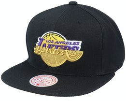 Los Angeles Lakers Gold Dip Down Black Snapback - Mitchell & Ness