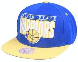 Golden State Warriors Billboard Classic Hwc Royal/Yellow Snapback - Mitchell & Ness