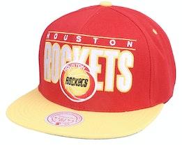 Houston Rockets Billboard Classic Hwc Red/Gold Snapback - Mitchell & Ness