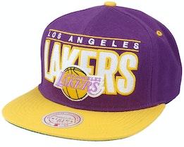 Los Angeles Lakers Billboard Classic Hwc Purple/Gold Snapback - Mitchell & Ness