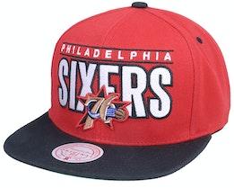 Philadelphia 76ers Billboard Classic Hwc  Red/Black Snapback - Mitchell & Ness