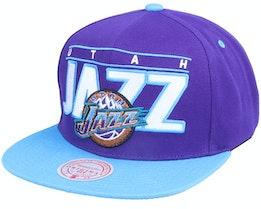 Utah Jazz Billboard Classic Hwc Purple/Teal Snapback - Mitchell & Ness