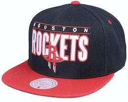 Houston Rockets Billboard Classic Black/Red Snapback - Mitchell & Ness