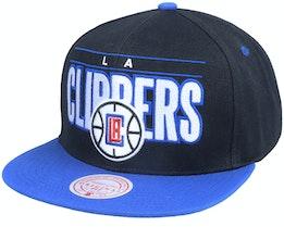 Los Angeles Clippers Billboard Classic Black/Blue Snapback - Mitchell & Ness