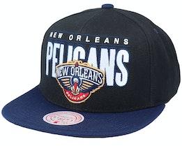 New Orleans Pelicans Billboard Classic Black/Blue Snapback - Mitchell & Ness