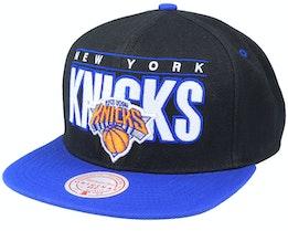 New York Knicks Billboard Classic Black/Blue Snapback - Mitchell & Ness