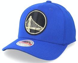 Golden State Warriors Golden Black Stretch Royal Adjustable - Mitchell & Ness
