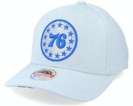Philadelphia 76ers Spot Lights Stretch Hwc Grey Adjustable - Mitchell & Ness