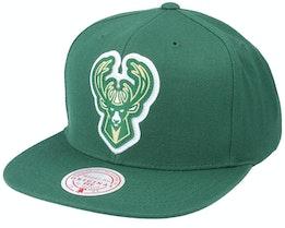 Milwaukee Bucks Pop Back Green Snapback - Mitchell & Ness