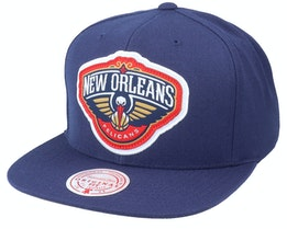 New Orleans Pelicans Pop Back Navy Snapback - Mitchell & Ness