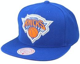 New York Knicks Pop Back Royal Snapback - Mitchell & Ness
