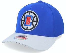 Los Angeles Clippers Spot Lights Stretch Royal/Grey Adjustable - Mitchell & Ness