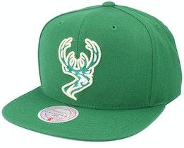 Milwaukee Bucks Warp Down Green Snapback - Mitchell & Ness