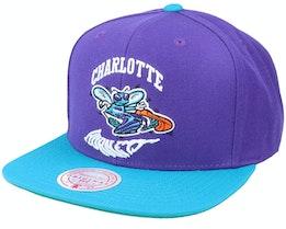 Charlotte Hornets Warp Down Hwc Purple/Teal Snapback - Mitchell & Ness