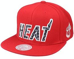 Miami Heat Wildback Hwc Red Snapback - Mitchell & Ness