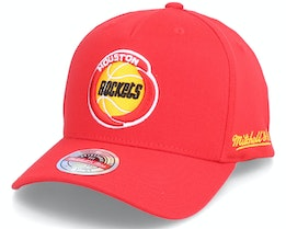 Houston Rockets Dropback Solid Red Adjustable - Mitchell & Ness